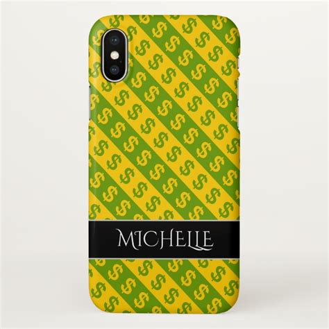 yellow pattern iphone case green yellow dollar signs striped pattern iphone x