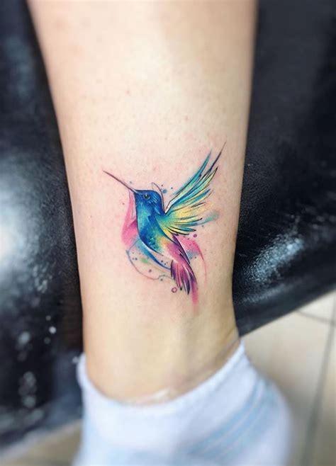 watercolor hummingbird tattoo inkstylemag inkstylemag