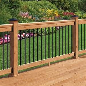 Black Balusters Western Cedar Railing Kit With Black Balusters