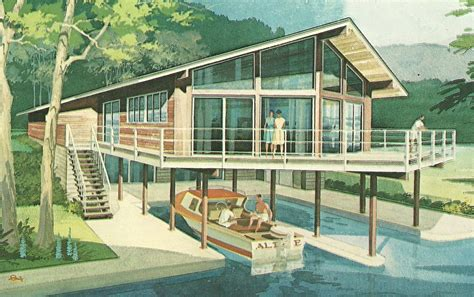 vacation house plans vintage house plans 1960s stylish vacation homes