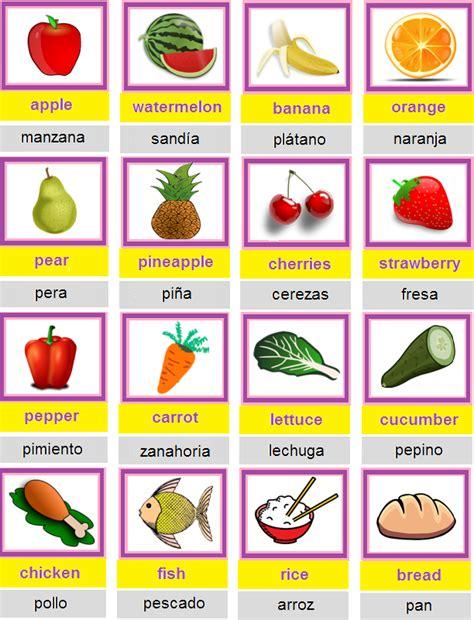 imagenes de comidas en ingles y español aprende ingl 233 s food