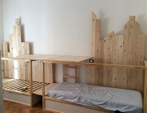bunk bed hacks ikea kura hack bunk bed mommo design