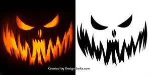 Pumpkin Pattern Template by 10 Free Scary Pumpkin Carving Patterns Stencils