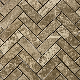 1 x 3 Herringbone Mosaic Tile Emperador Light Marble Polished