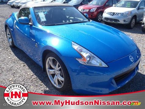blue nissan 370z 2012 monterey blue nissan 370z sport touring roadster
