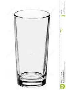 in glass empty glass on the white background royalty free stock