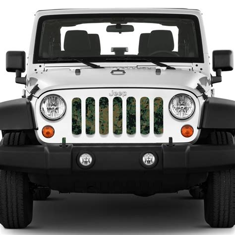 Grill Inserts For Jeep Green Digi Camo Grill Insert For Jeep Wrangler 97 17