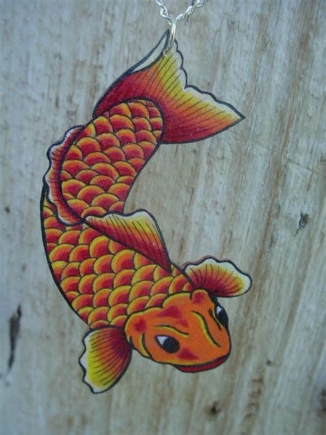 traditional koi fish tattoo designs traditional japanese koi fish necklace bright