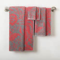 gray and coral bathroom grey coral bath towels for the home pinterest