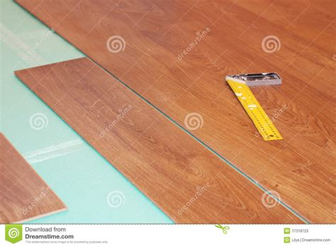 Substrate Flooring by Ruler And Laminate On Substrate Stock Photos Image 17318723