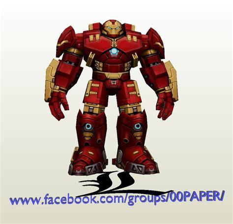 Ironman Papercraft - papercraft pdo file template for iron hulkbuster