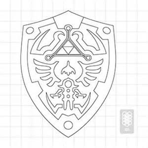 Hylian Shield Outline by Hylian Shield Blueprint Legend Of