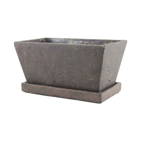 Home Depot Planter by Syndicate 4 1 4 In X 9 1 2 In Tapered Cement Planter