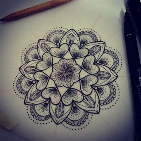 rodjaasexface for mina tattoo design dotwork mandala