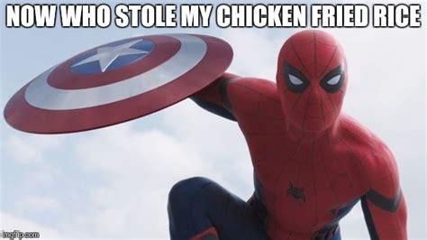 Spiderman Rice Meme - spider man civil war imgflip