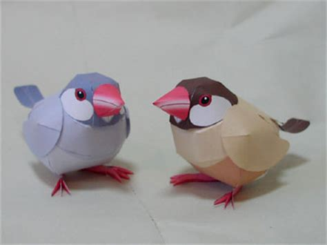 Papercraft Bird Template - animal papercraft colorful java sparrow bird paper