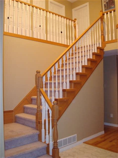 sanding a banister refinishing banister staircase railing paint or stain