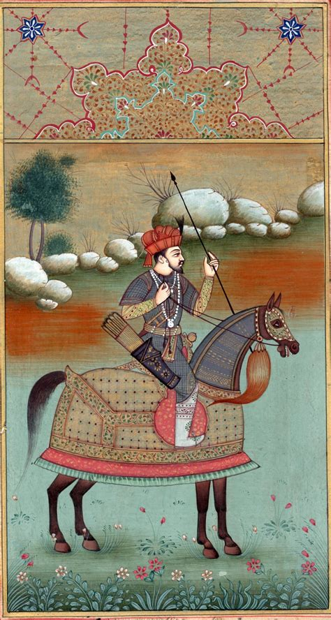 Handmade Painting - mughal miniature painting handmade timur equestrian