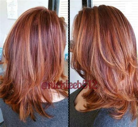 auburn hair color with highlights 50 glamorous auburn hair color ideas