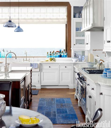 White And Blue Kitchen Cabinets For The Of Kitchens Blue White Kitchen The Inspired Room