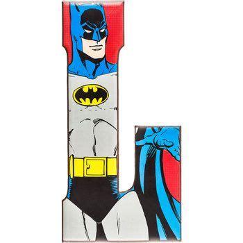 Letter Batman 18 Quot Dc Comics Heroes Embossed Batman Tin Letter L Open Road Brands Soaring Heights