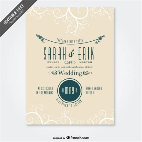 Wedding Invitation Letter Vector Free 7 Free Vector Wedding Designs