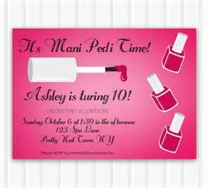manicure party invitation mani pedi party printable spa