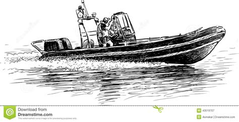 motor boat drawing drawn yacht rescue boat pencil and in color drawn yacht