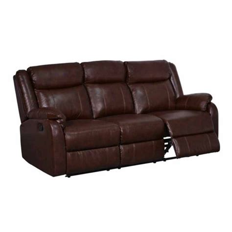 usa sofas global furniture usa leather reclining sofa in brown