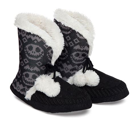 nightmare before slipper boots nightmare before fair isle boot slippers