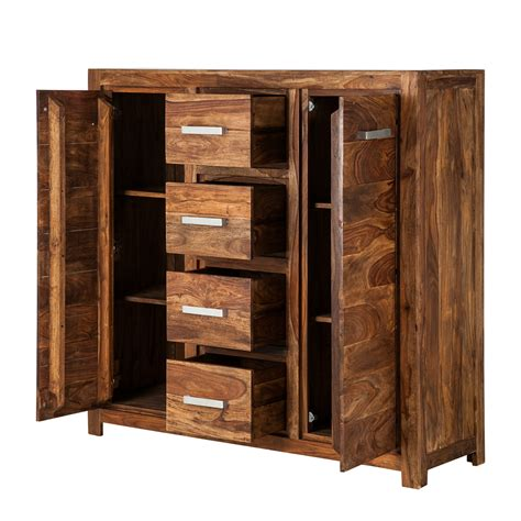 kommode sheesham highboard massivholz palisander sheesham hochkommode