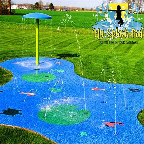 splash pad backyard my splash pad water park installer for backyard ohio oh