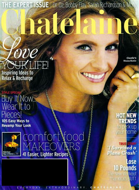 collette stenger actress stana katic on chatelaine magazine canada february 2012