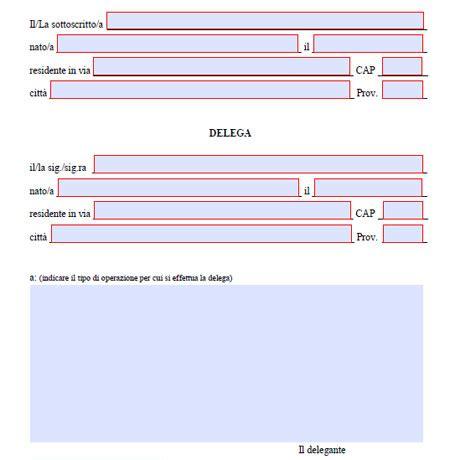 delega per delega generica editabile da stare fac simile word e pdf