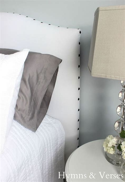 diy upholstered headboard with nail head trim hometalk