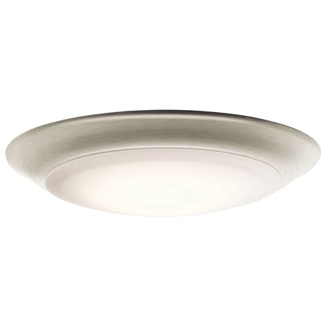 kichler light fixtures kichler 43848niled27 brushed nickel led 2700k 7 5 quot ceiling