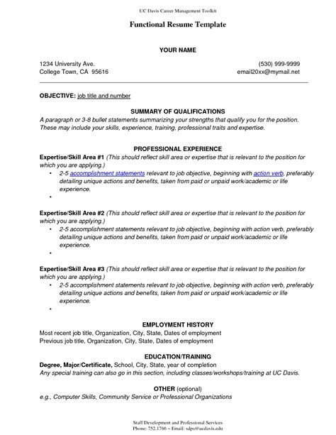 Functional Resume Template Word 2010 by Functional Resume Sle Template Sle Resume Cover Letter Format