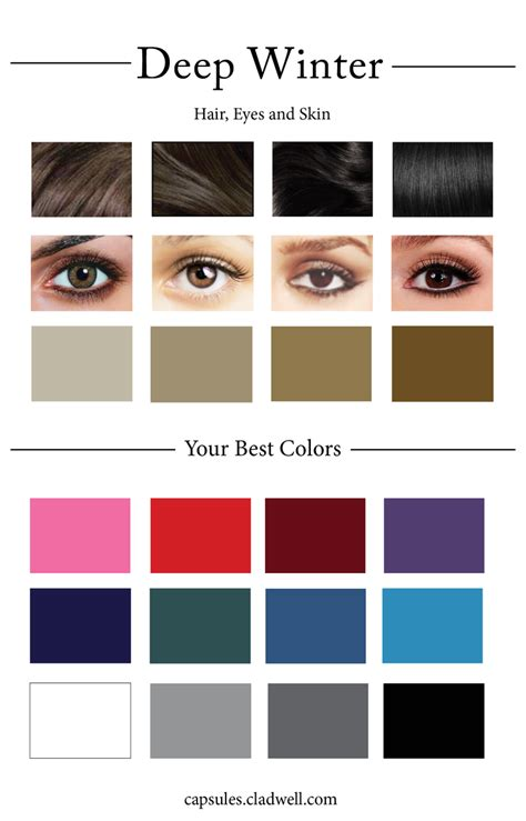 hair colors for winter skin tones how to create your personal color palette plus take our