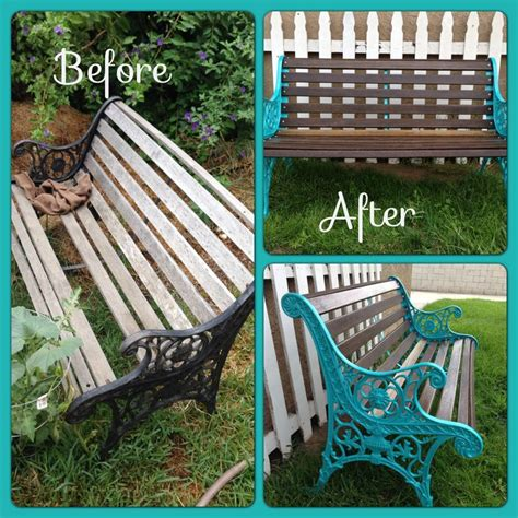 painted wooden garden bench bench project rustoleum new hardware lacquer turned an