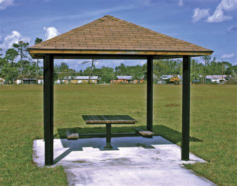 metall pavillon steel frame single roof forestview square pavilions