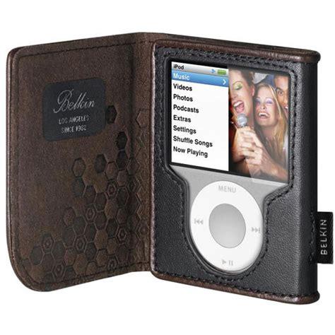 Belkins Folio Ipod Nano With Mirror by Belkin Leather Folio For Ipod Nano 3rd F8z206 Kr B H