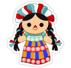 Sticker Decor For Walls quot maria 6 mexican doll quot stickers by alapapaju redbubble