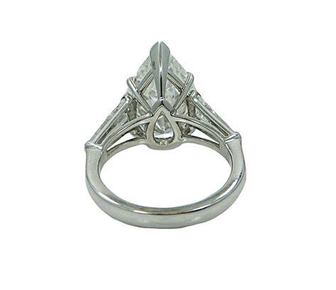 5 04 carat pear shaped platinum engagement ring