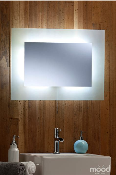 bathroom ambient lighting bathroom wall mirror led ambient surround light with frosted edging rect 50 x 70 ebay