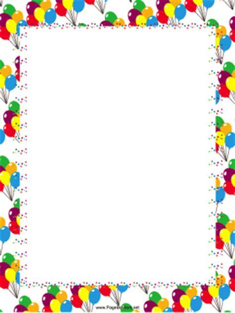 Festive Balloons Party Border Free Printable Birthday Borders And Frames