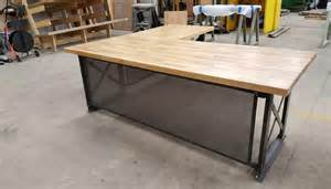 treasury trading desk large executive desk modern industrial l shape office desk