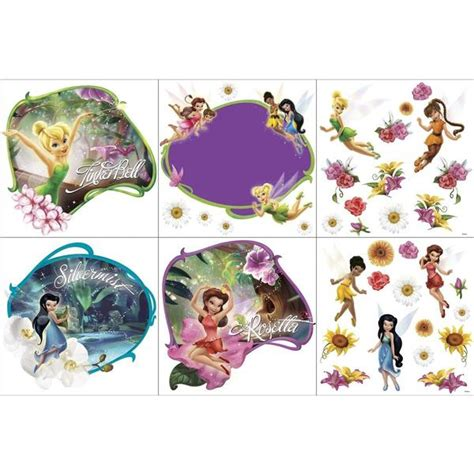 tinkerbell bedroom decor disney fairies bedroom decor tinkerbell friends wall decorating kit at toystop