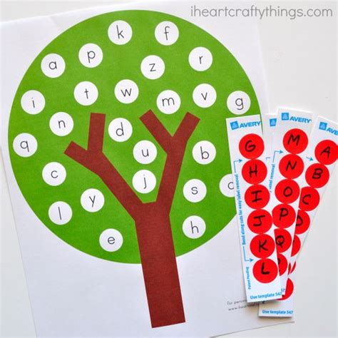 free tree letter matching a to m great winter and apple tree abc match free printable