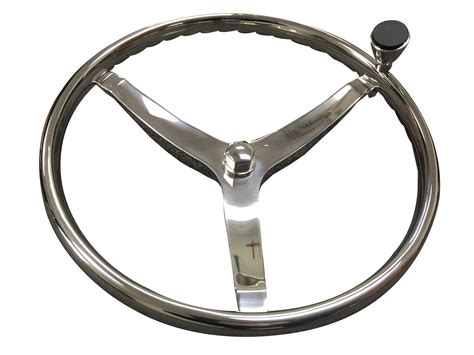 Steering Wheel Knob Marine by Marine Boat 3 Spoke Ss Steering Wheel Turning Knob Finger