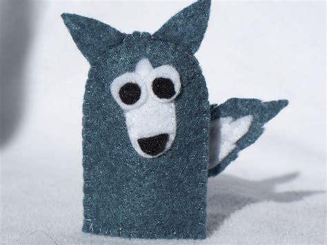 wolf puppet template wolf finger puppet